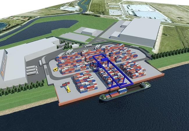 Containerterminal bedrijventerrein Medel – Tiel